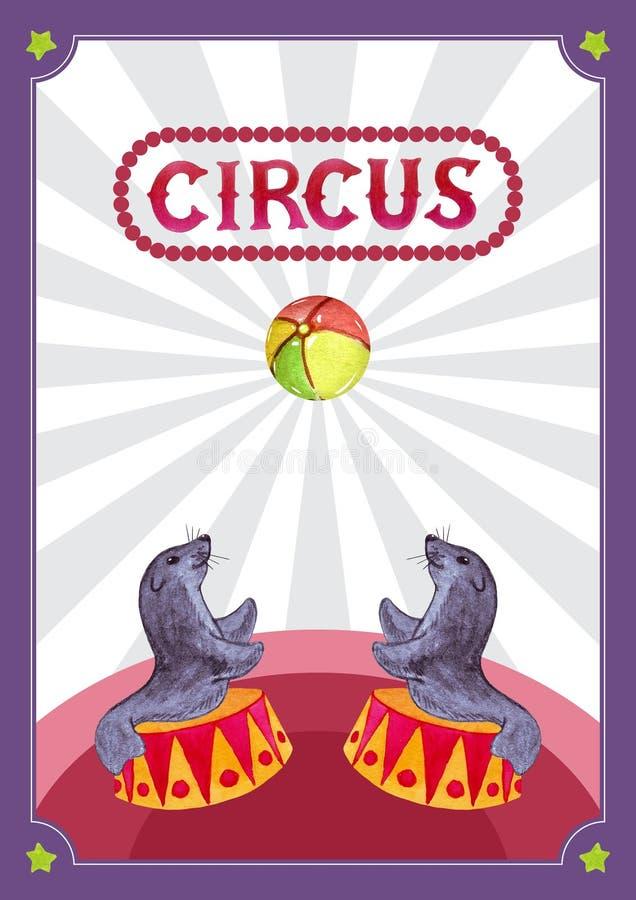 Szablonu projekt dla cyrkowego plakata ilustracji