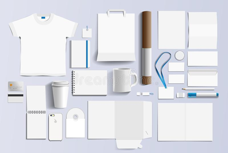 Szablonu projekta elementów biznesu pusty materiały ilustracji