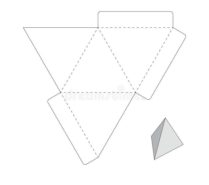Szablonu pudełko royalty ilustracja