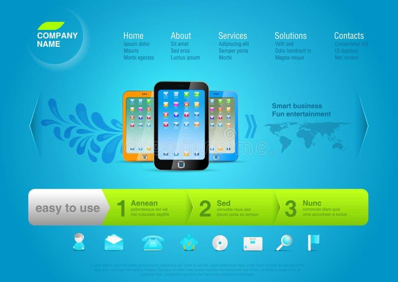 szablonu touchphones strona internetowa ilustracja wektor
