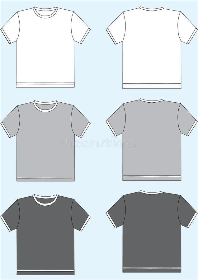 szablonu tshirt royalty ilustracja