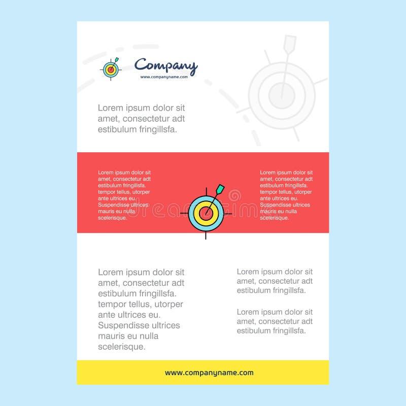Szablonu układ dla strzałki firmy gemowego profilu, sprawozdanie roczne, prezentacje, ulotka, broszurka wektoru tło ilustracji