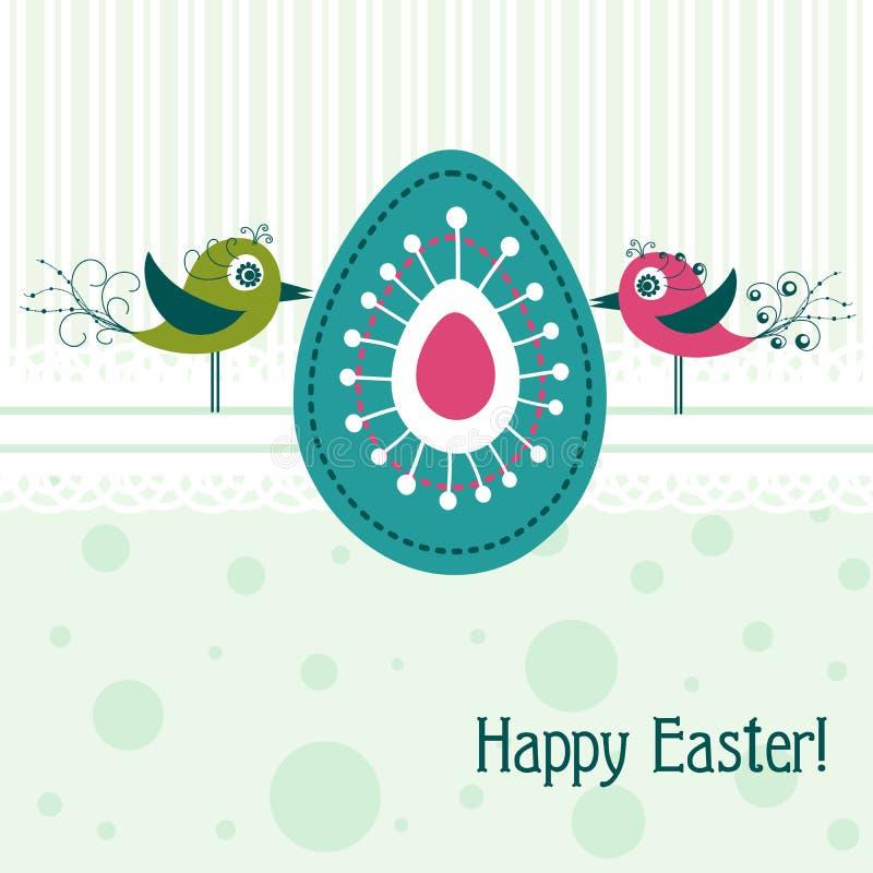 Szablonu Wielkanocny kartka z pozdrowieniami, wektor ilustracji