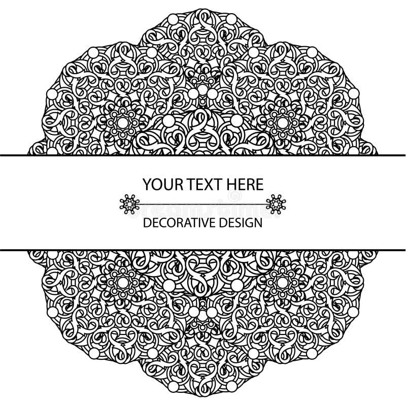 Szablonu zaproszenie z kółkowymi wzorami mandalas i wizytówka Korporacyjny styl royalty ilustracja