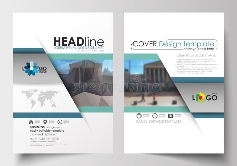 Szablony dla broszurki, magazynu, ulotki, broszury lub sprawozdania rocznego, Okładkowy projekta szablon, łatwy editable puste mi royalty ilustracja