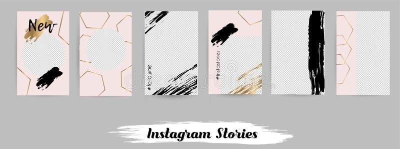 Szablony dla ogólnospołecznych medialnych poczt, instagram opowieść ilustracja wektor