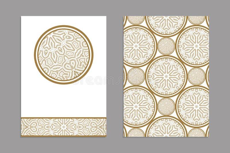 Szablony dla powitania i wizytówki, broszurki, pokrywy z kwiecistymi motywami royalty ilustracja