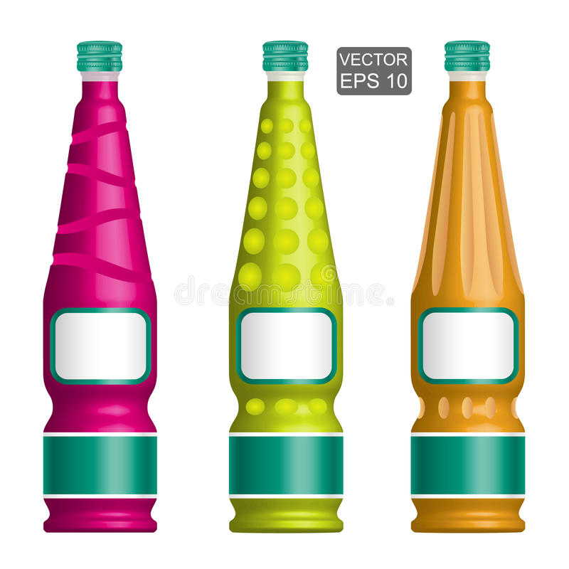 Szablony eleganckie butelki royalty ilustracja