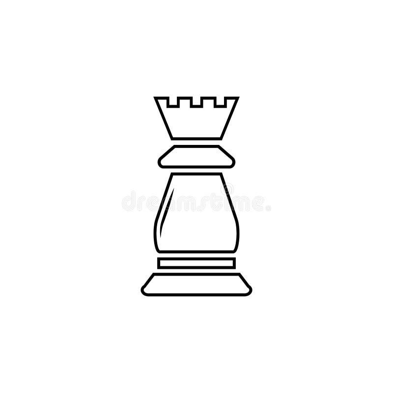 Szachowa gawronu wektoru ikona royalty ilustracja