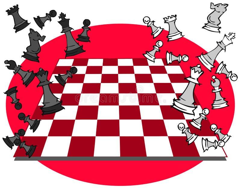 Szachowa gra, kreskówka royalty ilustracja