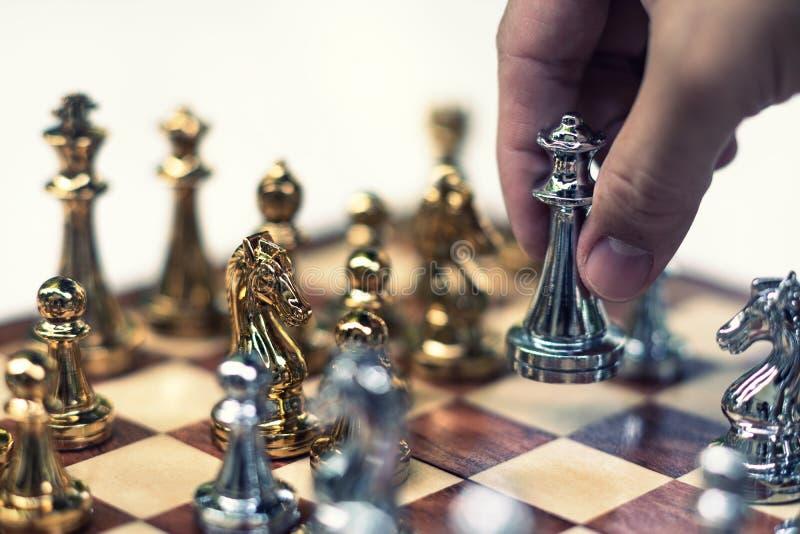 Szachowa gra planszowa, biznesowy konkurencyjny poj?cie zdjęcie royalty free