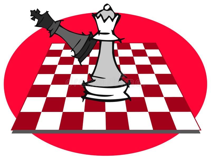 Szachowa gra, szachuje ilustracja wektor