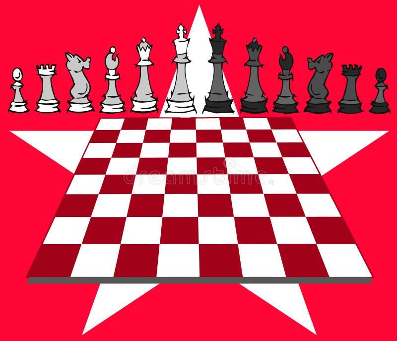 Szachowa gra, szachuje ilustracji