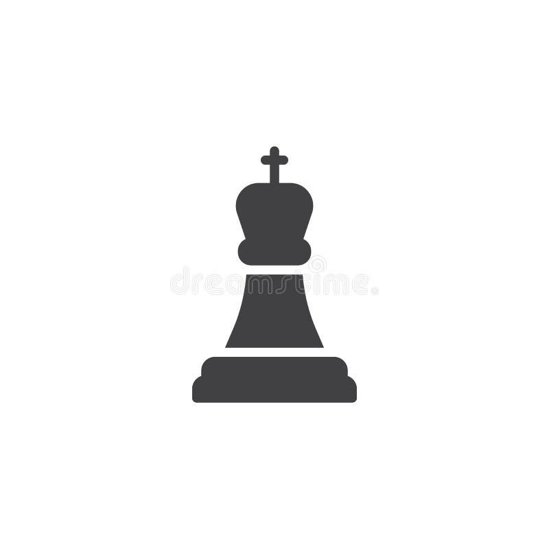 Szachowa królewiątko wektoru ikona royalty ilustracja