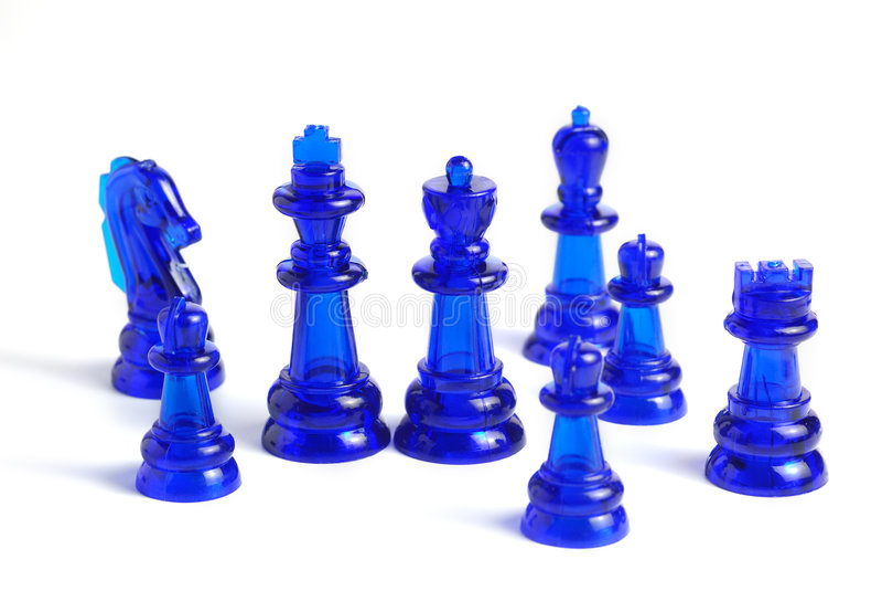 szachowa postać odizolowywał zdjęcie stock