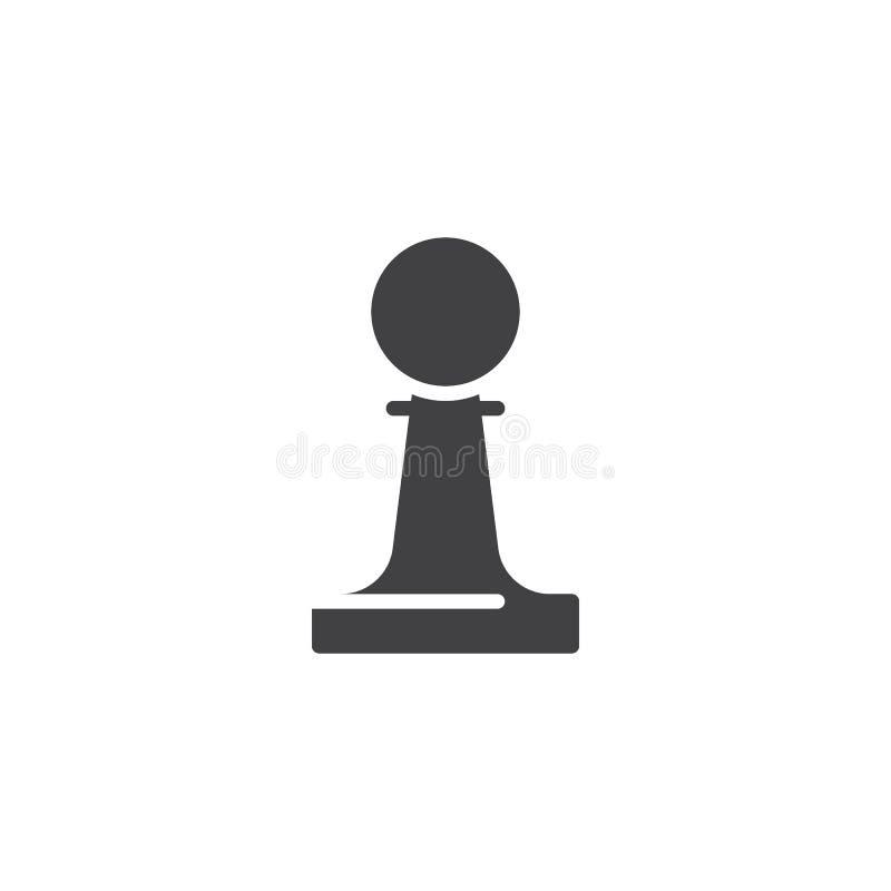 Szachowa zastawnicza wektorowa ikona ilustracji