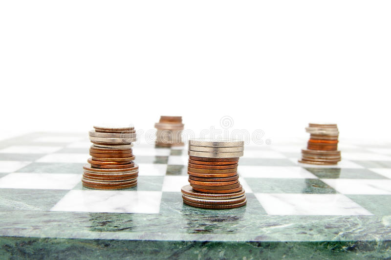 szachowe monety zdjęcia royalty free
