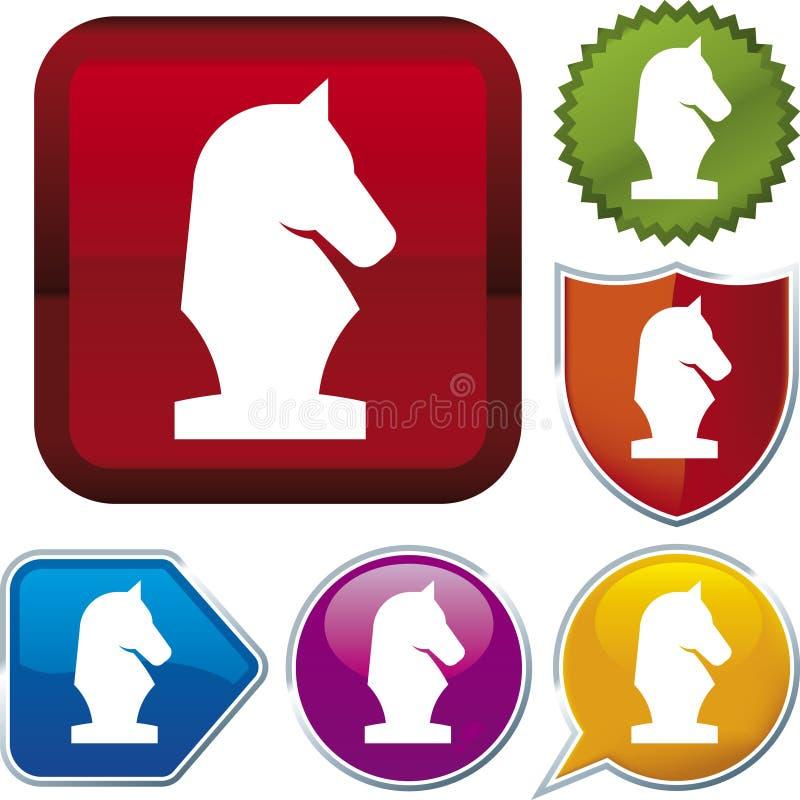 szachowe z cyklu ikony ilustracji
