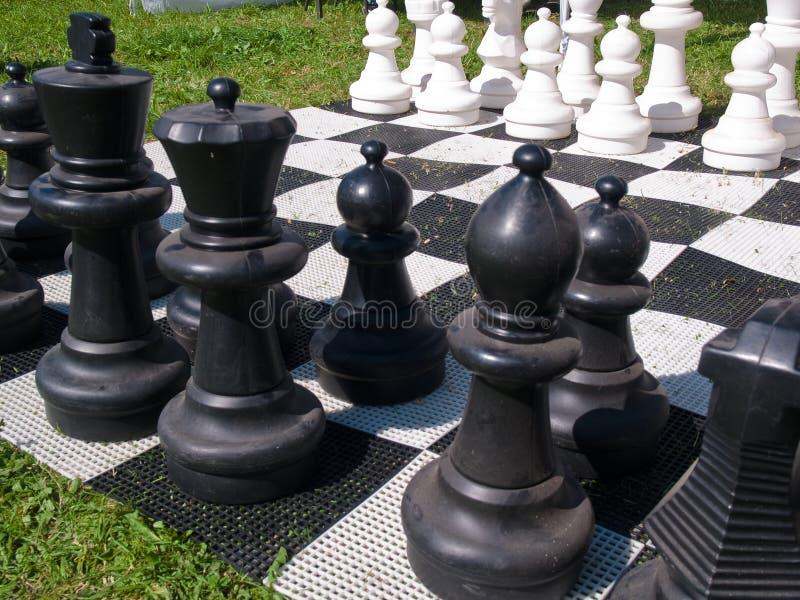 szachowej gry giganta ulica obraz stock