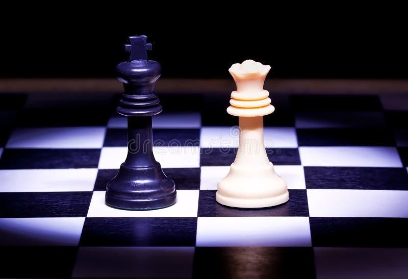 szachowej gry królewiątko składa królowej zdjęcia stock