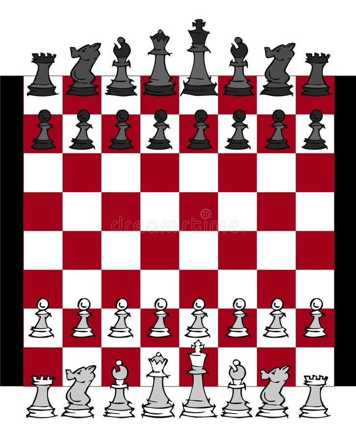 Szachowej gry set royalty ilustracja