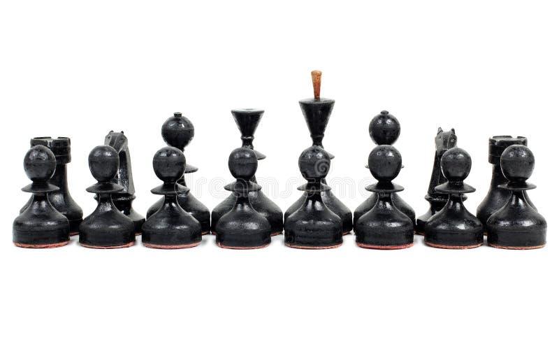 Szachowi kawałki cztery obrazy royalty free