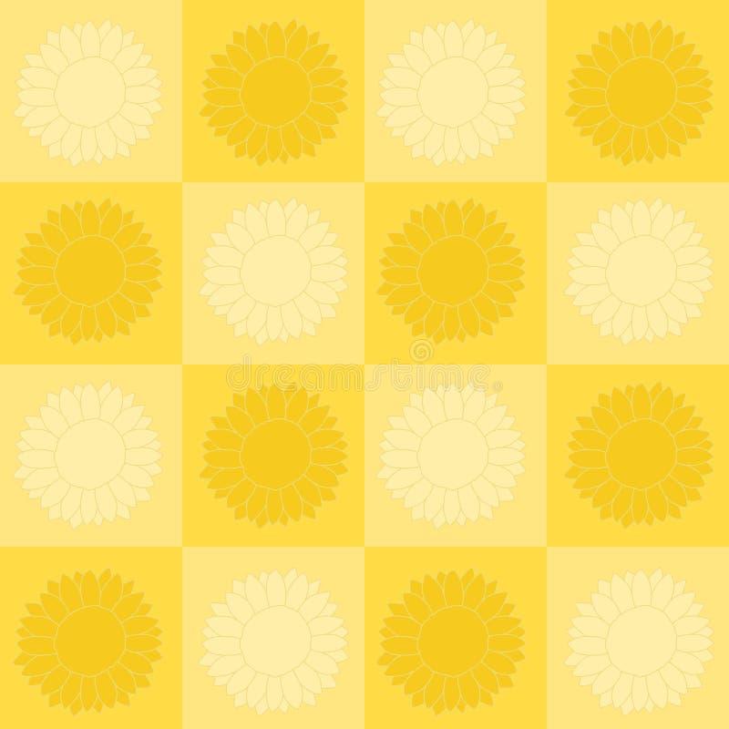 szachownica słonecznik ilustracji