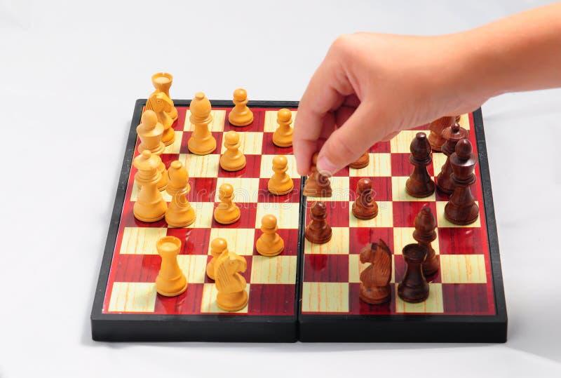 szachowy bawić się dziecka zdjęcia stock
