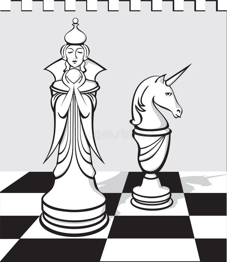 szachowy biel royalty ilustracja
