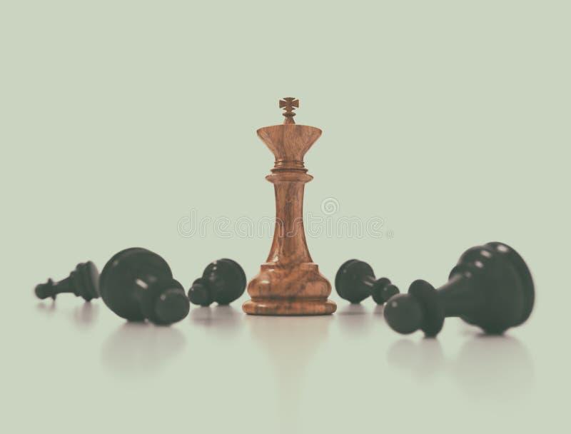 Szachowy biznesowy pojęcie, lider & sukces, ilustracji