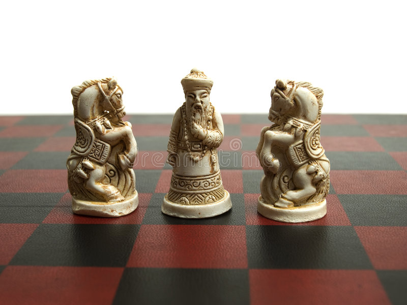 szachowy chińczyk fotografia stock
