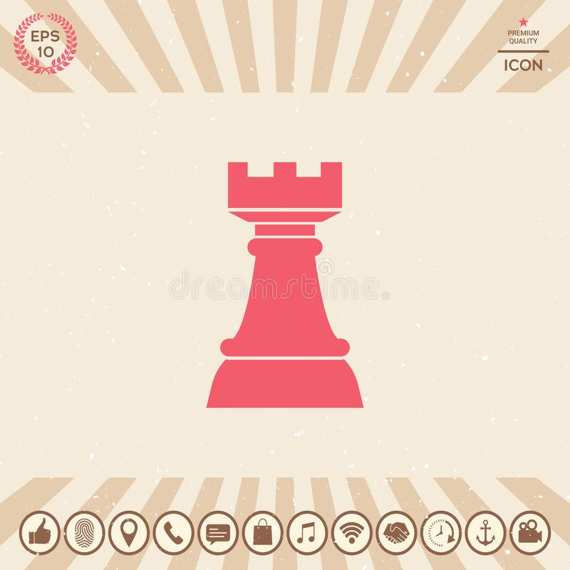 Szachowy gawron Strategii ikona ilustracja wektor