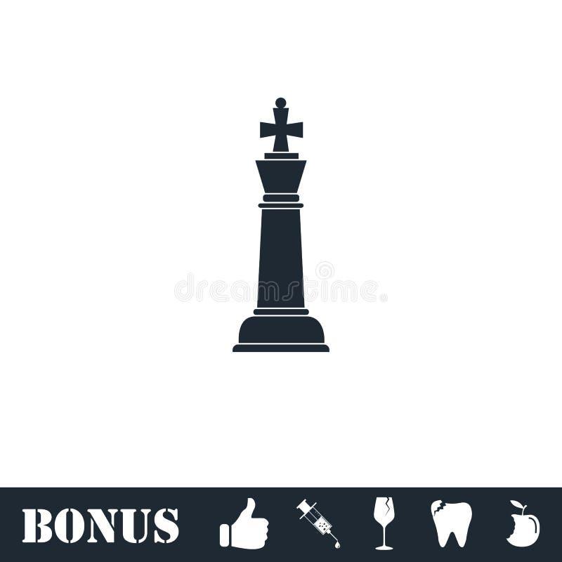 Szachowy ikony mieszkanie royalty ilustracja