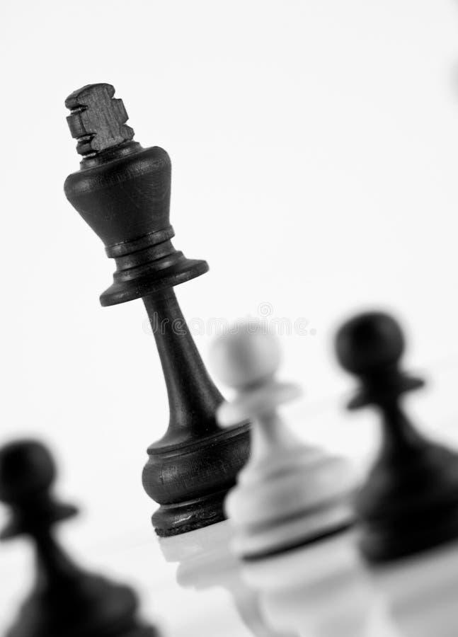 szachowy królewiątko fotografia royalty free