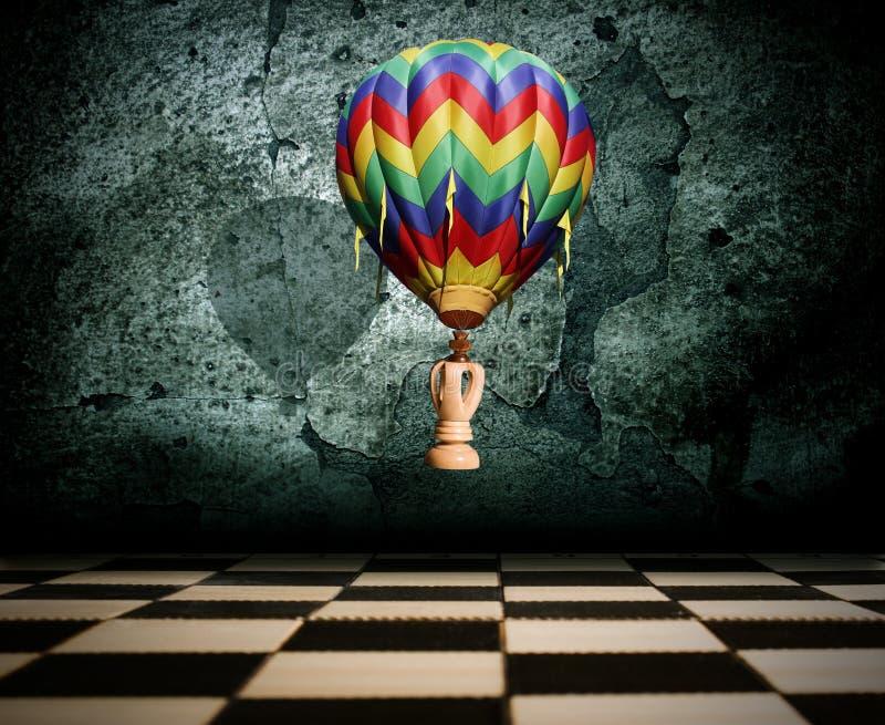 szachowy latający królewiątko royalty ilustracja
