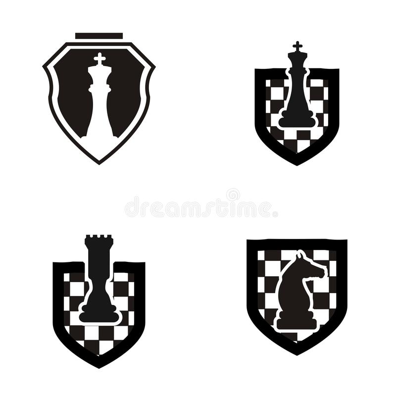 Szachowy loga projekt royalty ilustracja