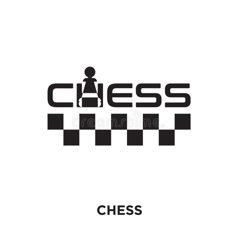 szachowy logo projekt odizolowywający na białym tle dla twój sieci, motłoch ilustracja wektor