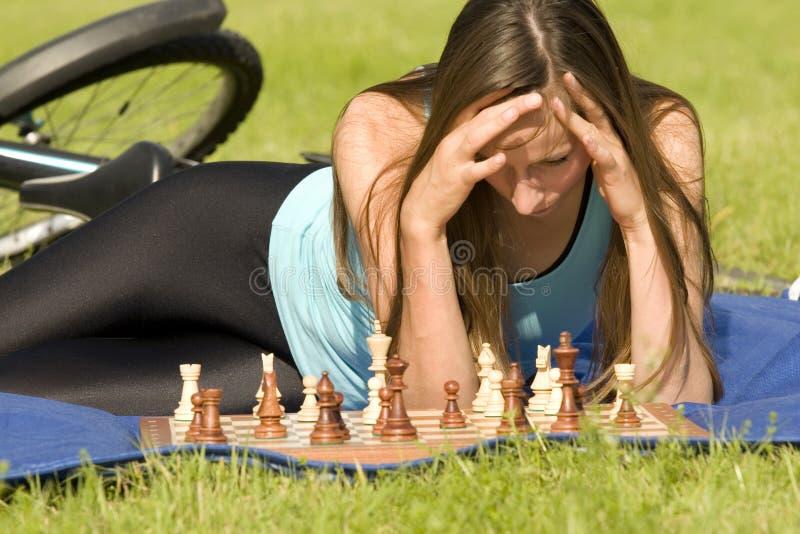 szachowy plenerowy bawić się zdjęcia stock