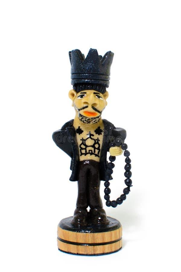 Szachowy postaci królewiątko w postaci więźnia zdjęcia royalty free