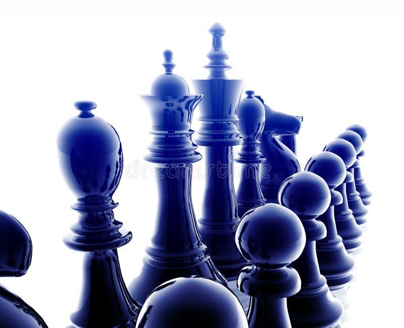 szachowy set royalty ilustracja