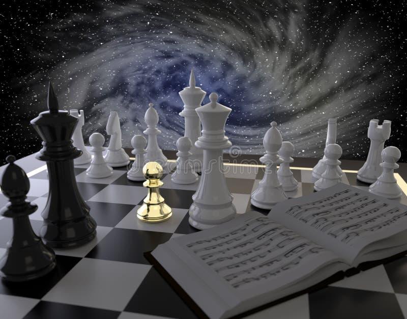 szachowy z?oty pionek royalty ilustracja