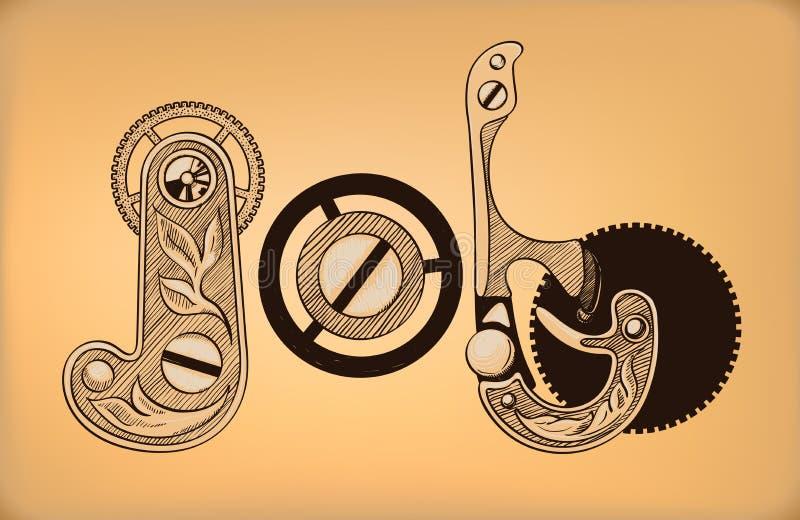 szachrajka Dekoracyjny literowanie skład ilustracji