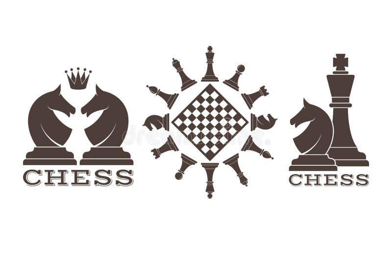 szachy emblemat ilustracja wektor