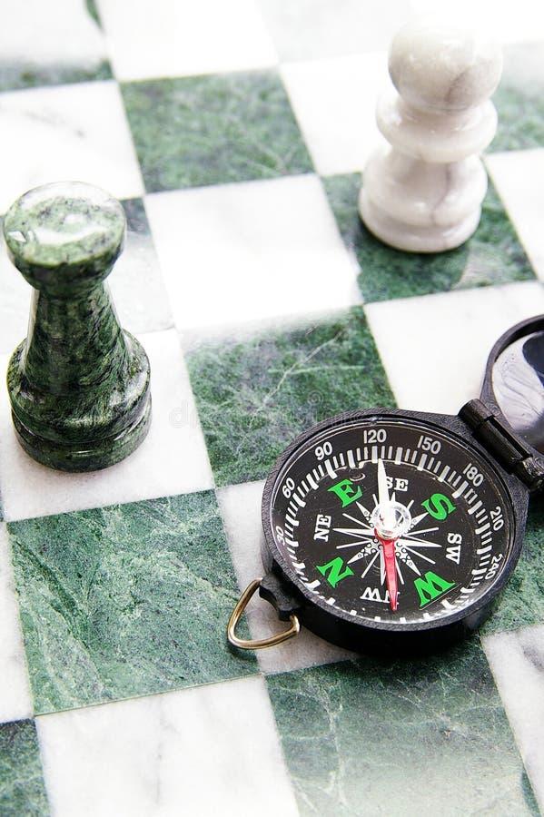 szachy kompas obraz stock