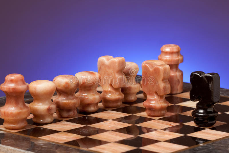 szachy marmur fotografia stock