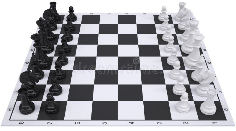 Szachy na chessboard royalty ilustracja