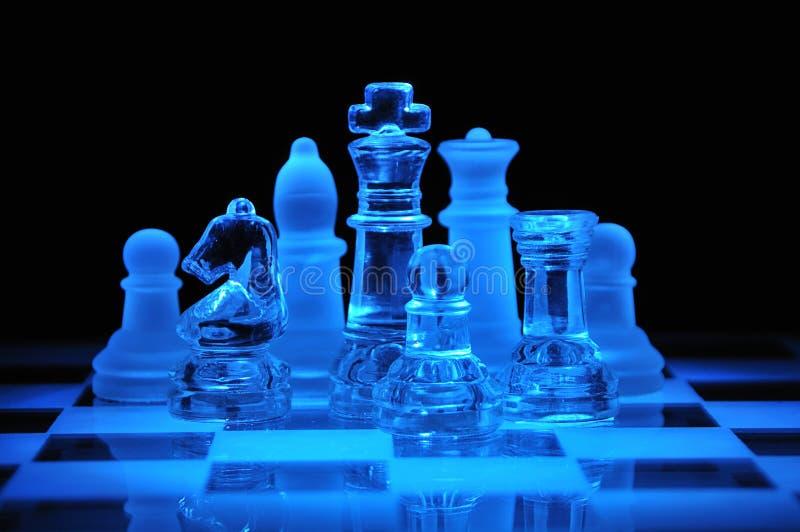 szachy oblicza szkło zdjęcia royalty free