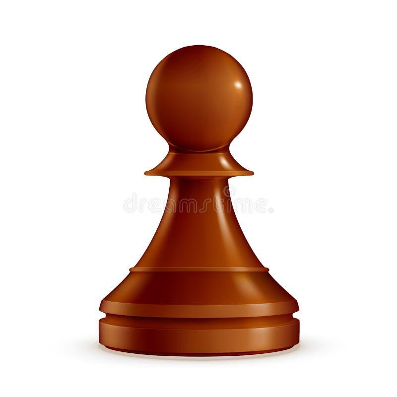 szachy pionek ilustracja wektor