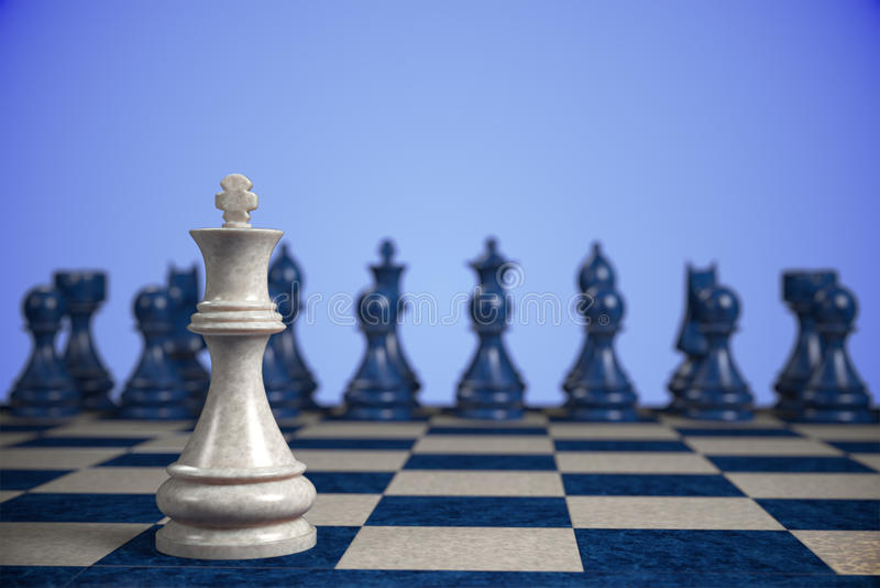 Szachy: rywalizacja obraz stock