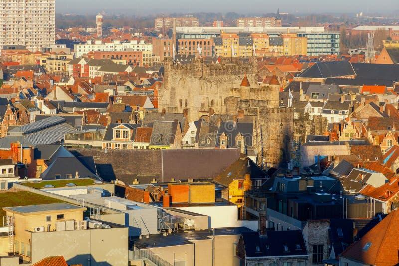 szacowny Widok z lotu ptaka stary miasto zdjęcia stock